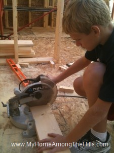Using the chop saw