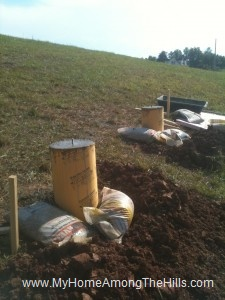 Concrete form tubes for our post and pier foundation