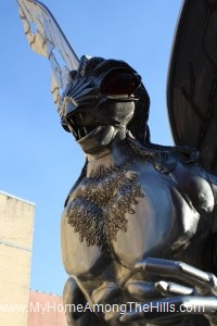 The Mothman statue in Point Pleasant, WV!