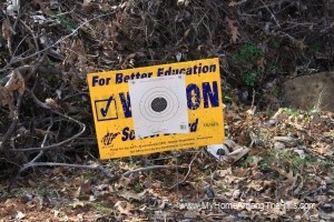 Political signs make great targets