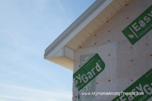 Finished corner - soffit and fascia