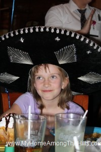 Sombrero on her birthday!