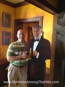The most interesting man in the world...and that guy from the Dos Equis commercials