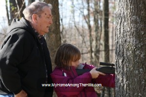 Teaching the girl to shoot