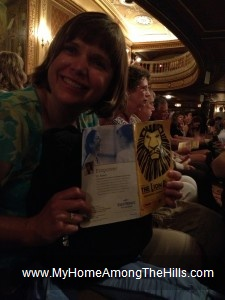 At the Lion King in Cleveland, OH