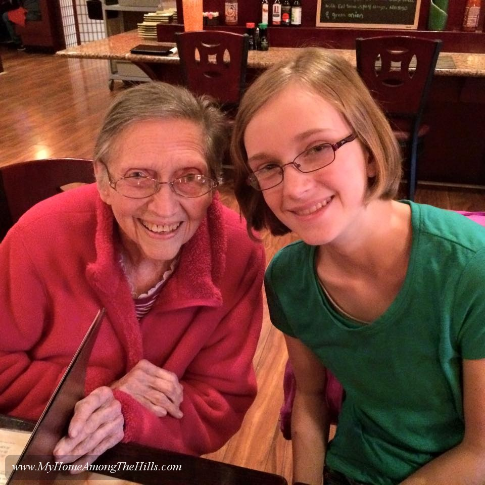Abigail's Birthday...with her great grandmother!